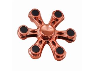 Fidget Spinner Six Star Flower - 6 Sternen Blume - kupfer
