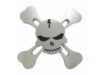Fidget Spinner Skull and Bones Totenkopf Spinner - silber