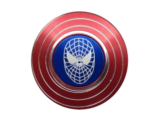Spiderman Fidget Spinner mit Netz und Streifen rot blau