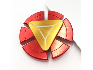 Iron Man Fidget Spinner Aluminium Premium Spinner in rot gold