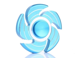 Wirbelwind Sturm Cyclone Premium Fidget Spinner aus Aluminium - blau