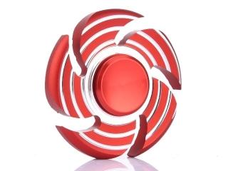 Wirbelwind Sturm Cyclone Premium Fidget Spinner aus Aluminium - rot