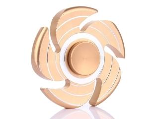 Wirbelwind Sturm Cyclone Premium Fidget Spinner aus Aluminium - gold