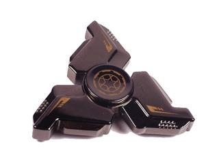 Super Heavy Army Premium Fidget Spinner aus Stahl - schwarz chrom