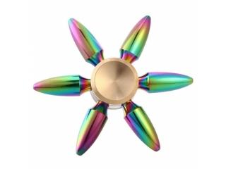 Rainbow Bullet Premium Fidget Spinner aus Stahl - Regenbogen Farben