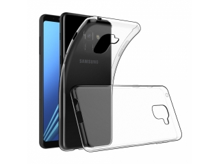 Gummi Hülle zu Samsung Galaxy A8 (2018) flexibel dünn transparent thin