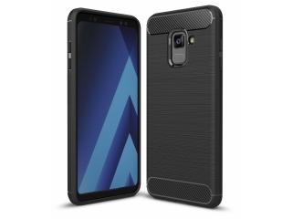 Samsung Galaxy A8 (2018) Carbon Gummi Hülle TPU Case Cover flexibel