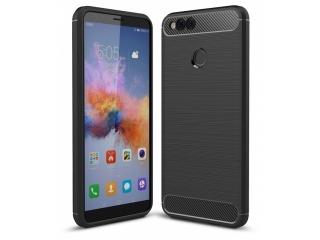 Huawei Honor 7X Carbon Gummi Hülle TPU Case Cover flexibel schwarz