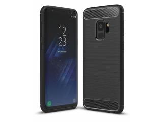 Samsung Galaxy S9 TPU Carbon Flex Gummi Hülle Thin Softcase - schwarz