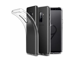 Gummi Hülle zu Samsung Galaxy S9+ flexibel dünn transparent thin clear
