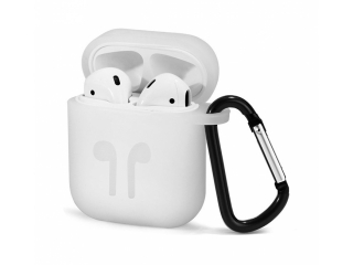 Silikon Hülle für Apple Airpods in weiss - Airpod Travel Sport Case