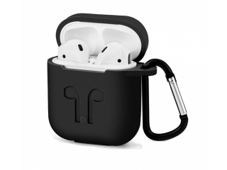 Silikon Hülle für Apple Airpods in schwarz - Airpod Travel Sport Case