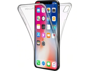 360 Grad iPhone X Touch Case Transparent Klar Silikon TPU Rundumschutz