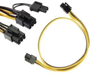 Grafikkarten Strom Kabel 6pin auf 8pin male/male 50cm für Netzteil