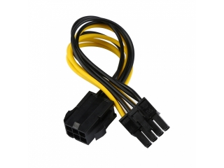 Grafikkarten Power Kabel - 6pin auf 8pin Adapter Kabel 12cm