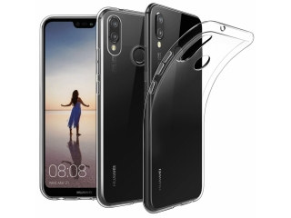 Gummi Hülle zu Huawei P20 flexibel dünn transparent thin clear case
