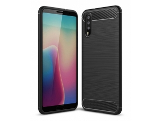 Huawei P20 Carbon Gummi Hülle TPU Case Cover flexibel