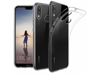 Gummi Hülle zu Huawei P20 Lite flexibel transparent thin clear case