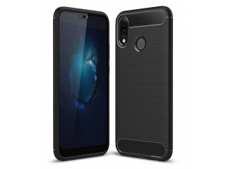 Huawei P20 Lite Carbon Gummi Hülle TPU Case Cover flexibel