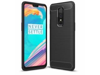 OnePlus 6 Carbon Gummi Hülle TPU Case Cover flexibel schwarz