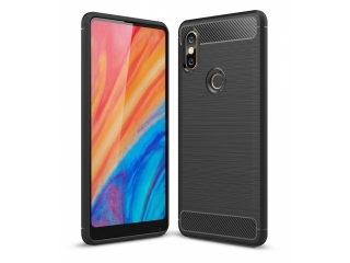 Xiaomi Mi Mix 2S Carbon Gummi Hülle TPU Case Cover flexibel schwarz