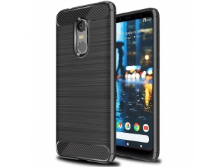 Xiaomi Redmi 5 Plus Carbon Gummi Hülle TPU Case Cover flexibel schwarz