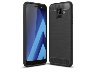 Samsung Galaxy A6 (2018) Carbon Gummi Hülle TPU Case Cover flexibel