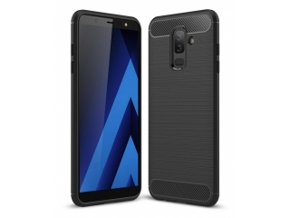 Samsung Galaxy A6+ (2018) Carbon Gummi Hülle TPU Case Cover flexibel