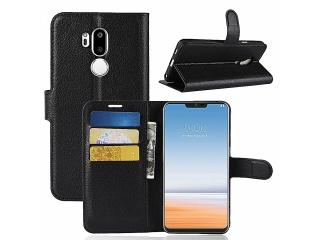 Ledertasche LG G7 Portemonnaie Karten Etui Schutzhülle schwarz