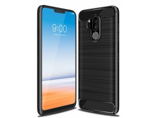 LG G7 Carbon Gummi Hülle TPU Case Cover flexibel schwarz