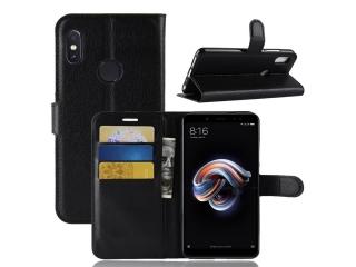 Ledertasche für Xiaomi Redmi Note 5 (Pro) Portemonnaie Karten Hülle