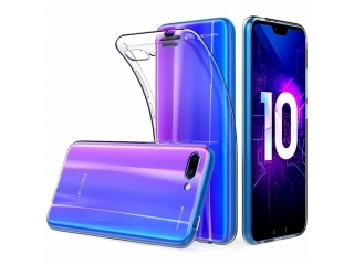 Gummi Hülle zu Huawei Honor 10 flexibel dünn transparent thin clear
