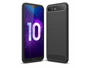 Honor 10 Carbon Gummi Hülle TPU Case Cover flexibel schwarz