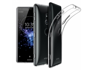 Sony Xperia XZ2 Hülle TPU flexibel dünn transparent thin clear case