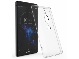 Gummi Hülle Sony Xperia XZ2 Premium flexibel dünn transparent thin