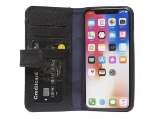 Decoded Echtleder Karten Hülle Card Wallet zu iPhone Xs Max - schwarz