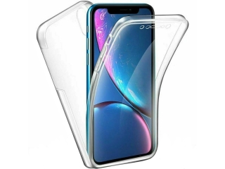 360 Grad iPhone Xr TouchCase Transparent Klar Silikon TPU Rundumschutz