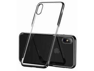 Baseus Clear Thin Hardcase für iPhone Xs Max Hülle Transparent Schwarz