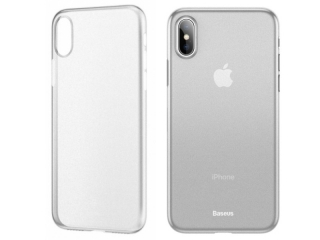 Baseus Extrem dünne iPhone Xs Hülle Ultra Thin 0.45mm transparent matt