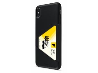 Artwizz TPU Card Case iPhone Xs Max Hülle mit Kreditkartenfach schwarz