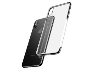 Baseus iPhone Xs Max Gummi Hülle dünnes 0.8mm Case schwarz transparent