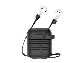 Baseus Silikon Case für Airpods & Kopfhörer Sicherheitsbändel schwarz