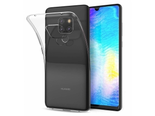 Gummi Hülle Huawei Mate 20 flexibel dünn transparent thin clear case