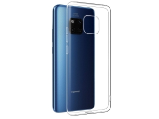Gummi Hülle Huawei Mate 20 Pro flexibel dünn transparent thin clear