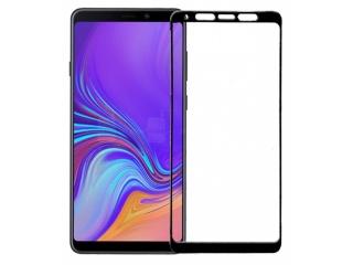 Samsung Galaxy A9 100% Vollbild Panzerglas Schutzfolie 0.23mm schwarz