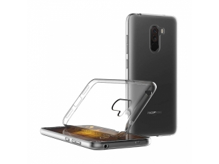 Gummi Hülle Xiaomi POCOPHONE F1 flexibel dünn transparent thin clear