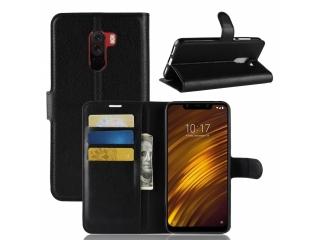 Ledertasche Xiaomi POCOPHONE F1 Portemonnaie & Karten Hülle schwarz
