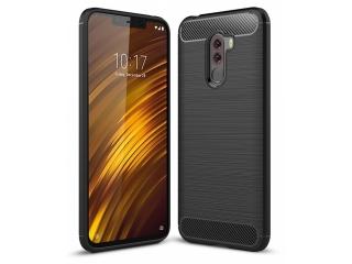 Xiaomi POCOPHONE F1 Carbon Gummi Hülle TPU Case Cover flexibel schwarz