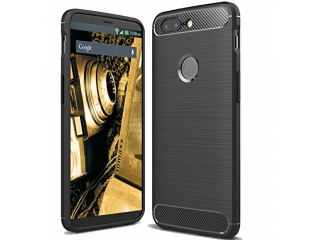Huawei P Smart Carbon Gummi Hülle TPU Case Cover flexibel