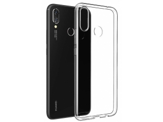 Gummi Hülle zu Huawei P Smart+ flexibel dünn transparent thin clear